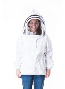 Women's Bee Jacket, Fencing Hood--available with a round or fencing hood.  Suits fits a woman without sacrificing its protective bee clothing qualities.  Our feminine touches will make you feel like the Queen bee!  In sizes XS to 3X.