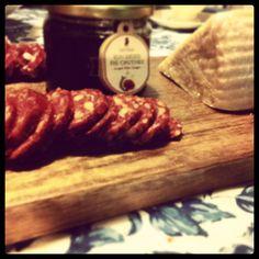 sausages , parmesan and jam