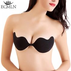 a6bda3a6a Fly Bra Strapless Silicone Push Up Invisible Bra Self Adhesive Backless  Bralette Lift Bralette Plus Size Seamless Bras