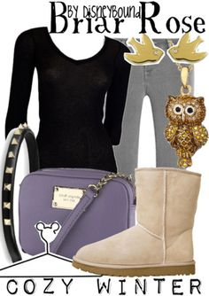 "Disney Princess Sleeping Beauty ""Briar Rose""-inspired outfit; Cozy Winter.   Disney Bound."