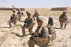 Road construction security by The U.S. Army, via Flickr