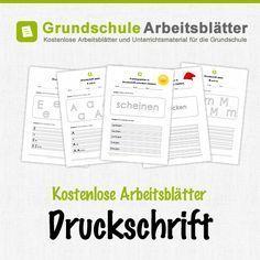 Kostenlose Arbeitsblätter und Unterrichtsmaterial für den Deutsch-Unterricht zum Thema Druckschrift in der Grundschule.