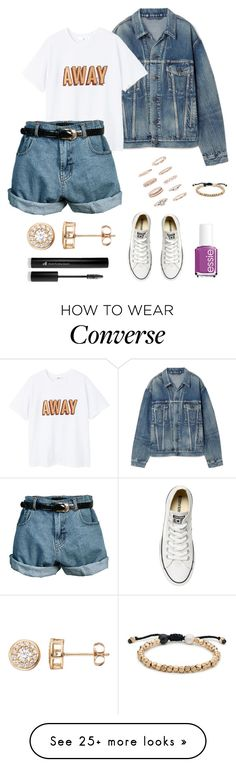 """Untitled #364"" by maram267 on Polyvore featuring Balenciaga, MANGO, Retrò, Forever 21, Lokai, Essie, Converse and Gold 'N' Ice"