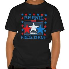 Kids' Bernie Sanders for President Stars T-Shirt