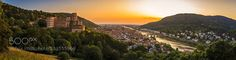 Heidelberg Sunset Panorama Follow me on INSTAGRAM Please also come over to my FACEBOOK PAGE and my Follow me on WEBSITE.