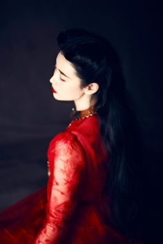 Ethereal ... these gorgeous images feature model Zhang Xin Yuan, wearing a beautiful Valentino dress   .. photographed by Wang Feng.