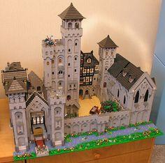 Minecraft Castle, Lego Minecraft, Minecraft Skins, Minecraft Buildings, Lego Station, Lego Burg, Lego Knights Kingdom, Lego Structures, Lego Village