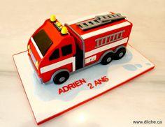 Firetruck cake | by dlichecupcakes