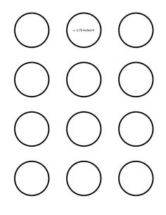 macaron 1.75 inch circle template - Google Search  I saved this to my pictures folder for better printing.  It prints nicely on a 8x11 sheet of parchment.