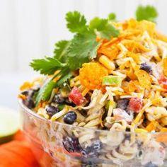 Taco Ranch Pasta Salad — Pip and Ebby - easy, delicious recipes! Chicken Pasta Salad Recipes, Taco Salad Recipes, Mexican Food Recipes, Ethnic Recipes, Taco Salads, Salad Chicken, Fruit Salads, Recipes Dinner, Italian Recipes