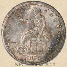 1875-S Trade Dollar, obverse