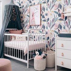 Removable Wallpaper, nursery wall decor, Nursery wallpaper, peel and stick wallpaper, baby girl nursery pink nursery wall sticker - Room Decor