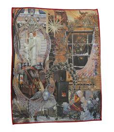"""La manta está hecha a mano en España y expone el famoso cuento """"La nina de los fósforos"""" de Hans Christian Andersen #ninafosforos #hcandersen #manta #estampado #arte #cuento #hechoamano #tienda #compra #ventamantas #diseñohogar #impresión #decoración #diseñointerior #lujo #historia #paracama"""