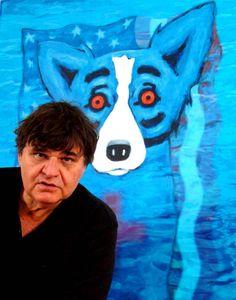 George Rodigue and his Katrina Blue Dog