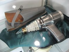 Blaster pistol (Profiles in History Auction).  From the 1956 motion picture, FORBIDDEN PLANET.