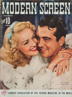 Betty Grable y John Payne, 1942