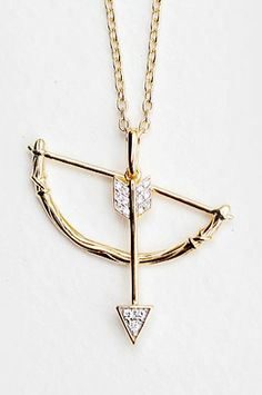 India Hicks' dainty and delightful Swinging Bow and Arrow Pendant, made of gold vermeil and diamonds, was inspired by the designer's life in the Bahamas.