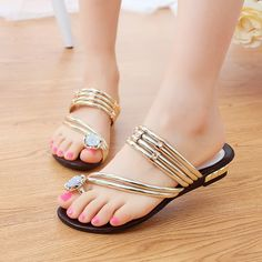 Find More Women's Sandals Information about 2015 Fashion Bohemia Flip Flops Women Sandals  Slipper Gold Rhinestone Flat Sandals Summer Sandali Donna  XWT210,High Quality sandals bow,China sandals cheap Suppliers, Cheap sandals fit from Factory Outlet Fashion Store on Aliexpress.com