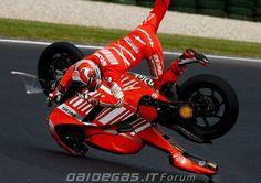 Casey Stoner Ducati MotoGP crash