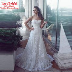Find More Wedding Dresses Information about Elegant Mermaid Sweetheart Lace…