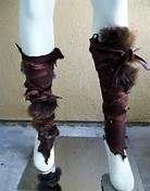 larp leather armor - vambraces, leg greaves
