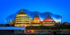 The Sage Gateshead is a centre for musical education, performance and conferences, located in Gateshead on the south bank of the River Tyne, in the North East of England. It opened in Sage Gateshead, Newcastle England, Design Fields, Amazing Architecture, Empire State Building, Facade, Around The Worlds, Centre, Image
