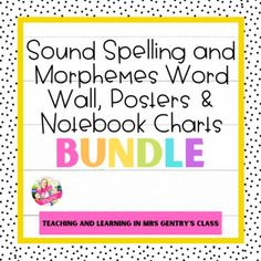 This bundle includes all of my Sound Spelling and Prefixes, Suffixes, Latin, and Greek Roots resources that follow the Orton Gillingham and Science of Reading systematic sequence for spelling and word study instruction of phones, graphemes, and morphemes.Resources include:Sound Spelling Word Wall bu... Gillingham, Spelling Words, Prefixes, Word Study, Writing Activities, Teaching Tools, Roots, Phones, Greek