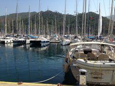 sail boats at marmaris, Turkey