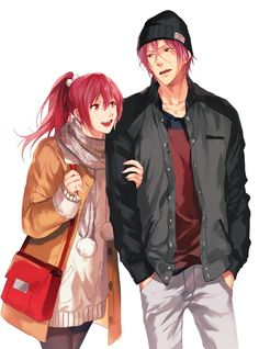 Find images and videos about anime, manga and rin on We Heart It - the app to get lost in what you love. Anime Siblings, Anime Couples, Anime Girls, Kawaii Cute, Kawaii Anime, Gou Matsuoka, Rei Ryugazaki, Harley Quinn Drawing, Free Eternal Summer