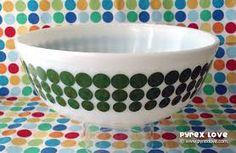 green dot pyrex bowl