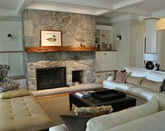 Eclectic Rustic House Architecture with Modern Interior Design : Cozy Living Room With Modern Sofa And Sleeper Sofa Roberts Cove
