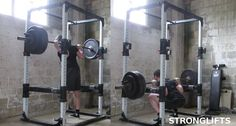 Stronglifts 5x5 - 3 days a week, 5 reps and 5 sets to get stronger faster