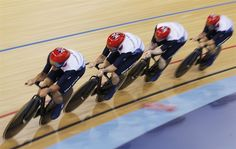 Team GB went on to take the gold in the men's Team Pursuit