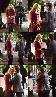 "Jennifer Morrison & Christopher Gorham,  filming episode 3x12 ""New York City Serenade"" (November 21, 2013)"