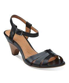 43f5685a676 Clarks Black Evant Regency Leather Sandal