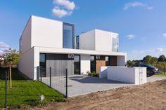 Dvojdomek - foto: Norbert Banaszyk Duplex Apartment, Townhouse, Semi Detached, Detached House, Duplex Design, House Design, Habitat Groupé, Double House, Design Case