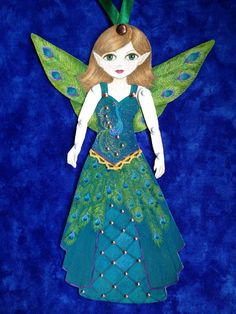 Peacock Princess Ornament by Ornamenture on Etsy, $40.00