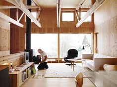 architect, interior, living rooms, wood, landscape photography, modern houses, homes, pine, live room