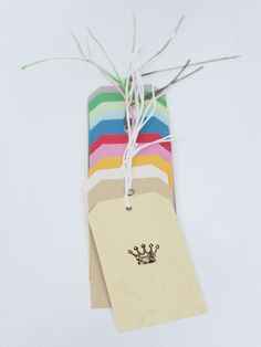 Ten Coloured Luggage Tags
