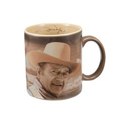 "Vandor 15067 John Wayne ""Fine Morning"" 12 oz Ceramic Mug, Brown: JW Fine Morning 12 oz. Decal Mug Best Coffee Mugs, Coffee Cups, Tea Cups, Brown Kitchens, Mugs For Men, John Wayne, Morning Coffee, Etsy Seller, Great Gifts"