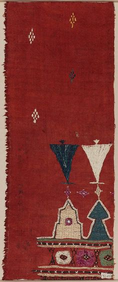 India | Textile Fragment | Embroidery | Late 19th to early 20th century | 46.5 x 18.5 cm (18 5/16 x 7 5/16 in.)