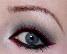 Mein Make Up für den Look Outlook Winter 2014 für Magimania http://www.kosmetik-vegan.de/erbse/augen-make-up-winter-2014-2015-fuer-magi-mania/ #vegan #beauty #makeup #winter #red