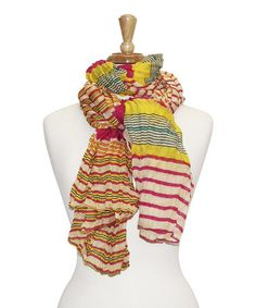 Another great find on #zulily! Pink Bright Stripe Scarf by Tickled Pink #zulilyfinds