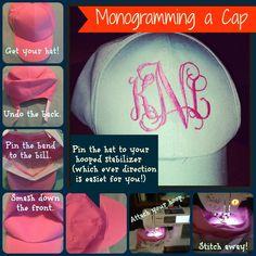 How to Monogram a Cap