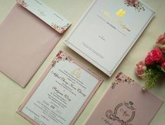 Unique wedding cards for muslim marriage must see httpwww contoh undangan pernikahan simple dan elegan soft color stopboris Images