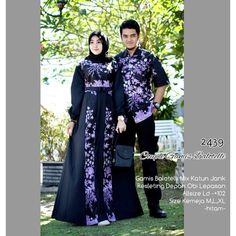 Zola_Batik Coupel Gamis Baloteli 2439 - Deswita 6 Hijab Dress, Hijab Outfit, Muslim Fashion, Hijab Fashion, Batik Muslim, Batik Couple, Kebaya Brokat, Batik Fashion, Batik Dress