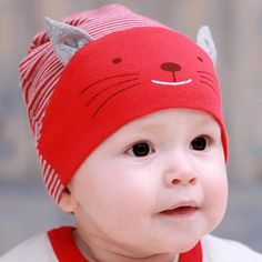 9ee2f53a3 Baby Animal Cotton Beanie Cap in 2019