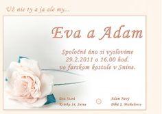 Svadobné oznámenie - SO040