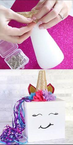 DIY Unicorn Box for Valentine