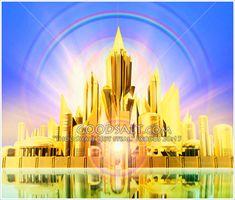 Peregrinos Rumo A Nova Jerusalem Nova Jerusalem, Celestial, Heaven Art, My Father's House, Bible Illustrations, Bride Of Christ, Prophetic Art, Jesus Is Coming, New Earth
